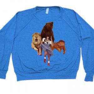 American Apparel, Sweater, Lion Tig..