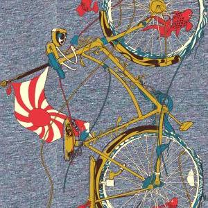 Womens Bicycle T Shirt Cycling Fish..