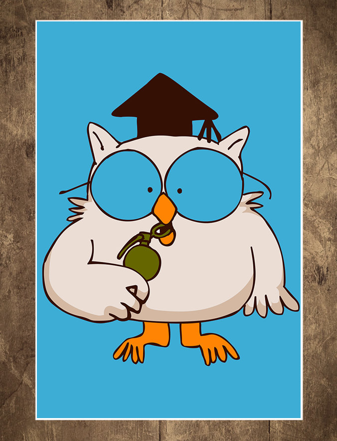 Art Print - Illustration - Digital Art - Mr. Owl 18 x 24