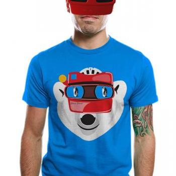 Mens t-shirt, polar bear, penguin, available S L XL
